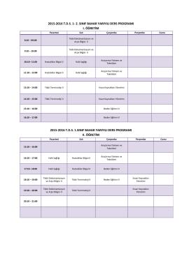 tıbbi dokümantasyon ve sekreterlik ders programı