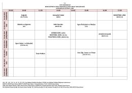 01.06.2015 PA ZA R TESİ Dağcılık Uzmanlık Futbol BASKETBOL