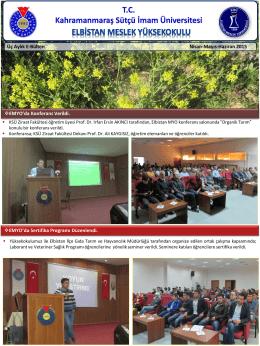 Kampüste Yaşam - Kahramanmaraş Sütçü İmam Üniversitesi
