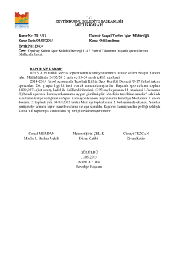 02/03/2015 tarihli Meclis toplantısında