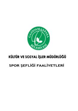 Spor Şefliği Faaliyetleri - Gaziosmanpaşa Belediyesi