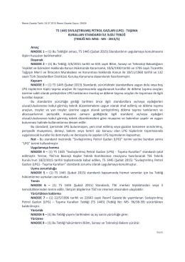 (lpg) - taşıma kuralları standardı ile ilgili tebliğ