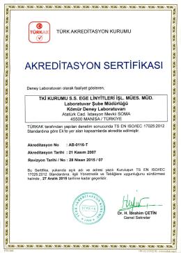 ÿş2 0 1 5 - 0 6 - 0 4 AKRED 0 TASYONSERTIFIKASI