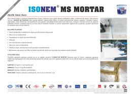ms mortar ısonem