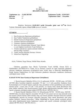 Eylül - Turhal Belediyesi