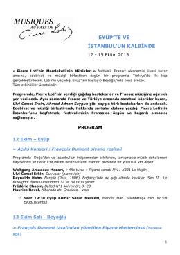 programme du festival en turc - Festival Musiques au Pays de Pierre