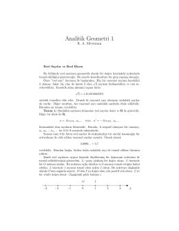 Analitik Geometri 1