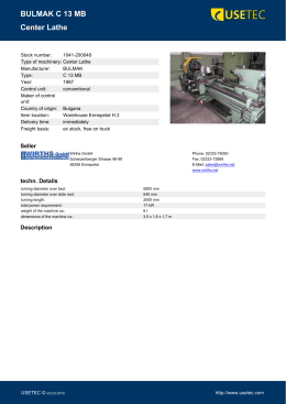 Center Lathe - BULMAK C 13 MB