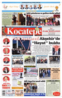 "PPaaarrrkkk HHaaassstttaaannneeesssii Akşehir`de ""Hayat"" buldu"