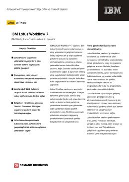IBM Lotus Workflow 7 - Developi Bilgi Sistemleri