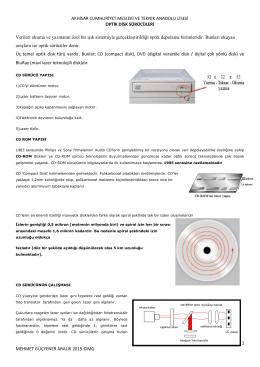 optik disk sürücüleri