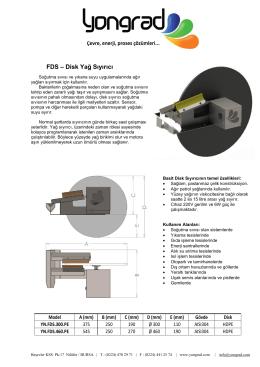 FDS – Disk Yağ Sıyırıcı