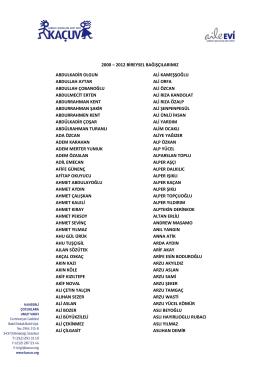 2000 - 2012 Bireysel Bağışçılar