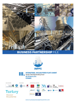 Business Partnership File - III. International Nuclear Power Plants