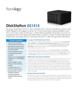 Synology DS1515 Broşür