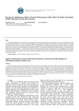 56-67 - KMÜ Sosyal ve Ekonomik Araştırmalar Dergisi