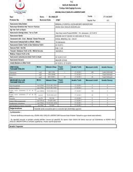 Açıklamalar : 1/1 27.10.2015 Sayfa No: Tarih : 37807