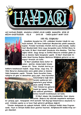 100.yıl coşkusu - Ali Haydar Önder Anadolu Lisesi