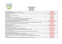 2015-2016 Bahar Yarıyılı Lisans Önlisans Akademik Takvimi