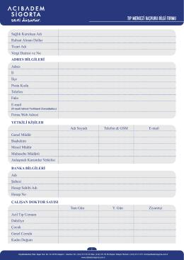 tıp merkezi başvuru bilgi formu