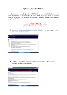 Staj Kayıt Kılavuzu - Erciyes Üniversitesi İletişim Fakültesi