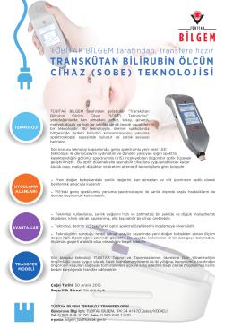 transkütan bilirubin ölçüm cihaz (sobe)
