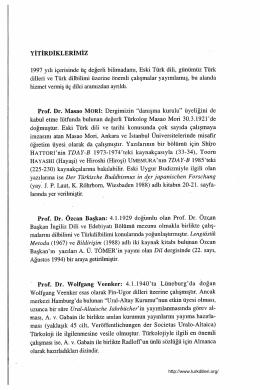 """Prof. Dr. Masao MORİ: Dergimizin """"danışma kurulu"""" üye1iğini de"""