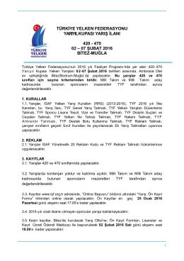 Git - Türkiye Yelken Federasyonu