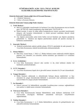 teknik birim - gümüşhacıköy açık ceza infaz kurumu