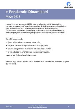 e-Perakende Dinamikleri Mayıs 2015