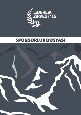 Become a sponsor - Liderlik Zirvesi