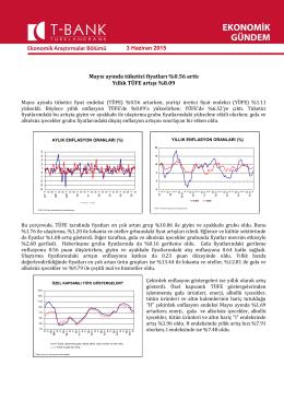 Mayıs ayında tüketici fiyatları %0.56 arttı Yıllık TÜFE artışı %8.09 3