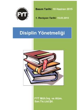 Disiplin Yönetmeliği