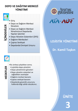ünit e ünite - Atatürk Üniversitesi Açıköğretim Fakültesi
