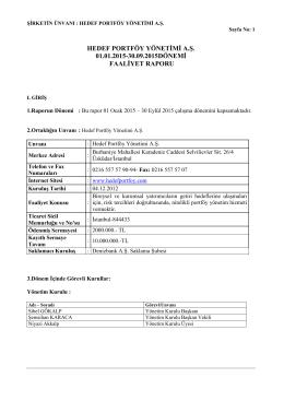 hedef portföy yönetimi a.ş. 01.01.2015