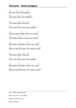 Karmate - Nazli Çiçeğum - Gitarre spielen lernen / gitarre