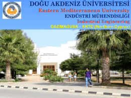 Merhaba SAMSUN - Industrial Engineering Department EMU-DAU