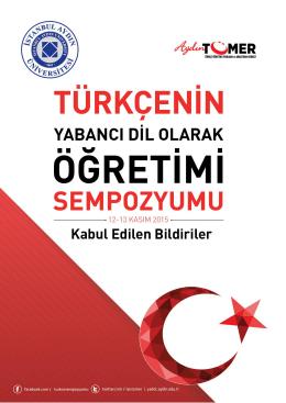 Tıklayın. - Türkçenin Yabancı Dil Olarak Öğretimi Sempozyumu