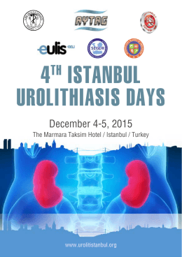 4TH ISTANBUL UROLITHIASIS DAYS
