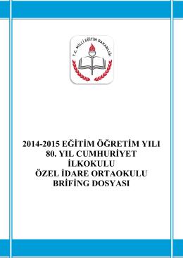 Okul Brifing - SÜLEYMANPAŞA - Özel İdare Ortaokulu