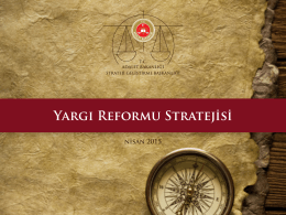 Yargı Reformu Stratejisi - Strateji Geliştirme Başkanlığı