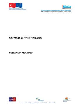 KİMYASAL KAYIT SİSTEMİ (KKS) KULLANMA KILAVUZU