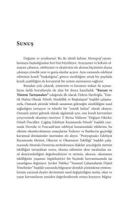 Sunuş - Monograf