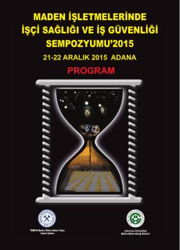 Sempozyum Programı - Maden Mühendisleri Odası