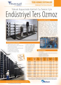 SOFTECH Endüstriyel Ters Ozmoz Cihazları