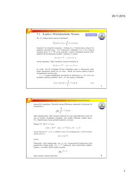 1 Otomatik Kontrol (Laplace ve Ters Laplace Dönüşümleri)