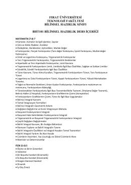 Dökümanın PDF Hali - FU Teknoloji Fakültesi