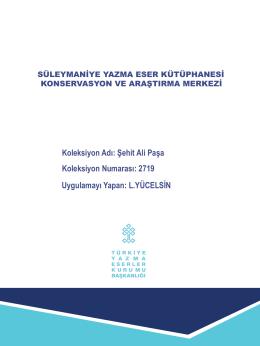 Şehit Ali Paşa 2719 - Süleymaniye Yazma Eser Kütüphanesi
