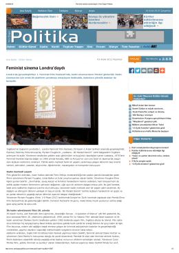 Feminist sinema Londra`daydı