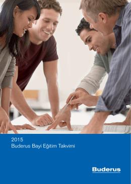 2015 Buderus Bayi Eğitim Takvimi